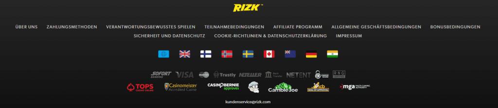 Rizk Casino Werbung